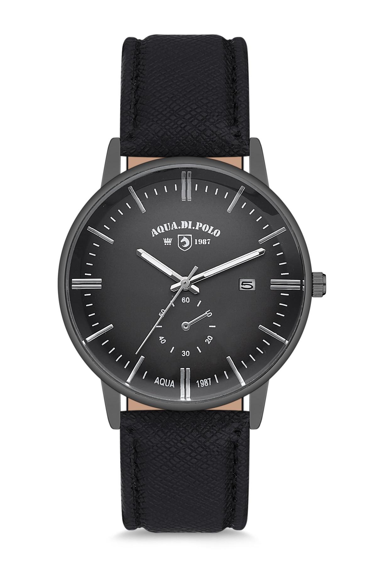 2020-2021 lux Model Top Brand Hot Fashion Quartz APSV1-A9460-ED333 Leather Men Wristwatch Black Aqua di Polo 1987