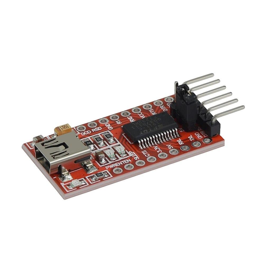 1 Uds FTDI FT232RL USB a TTL Serial convertidor Módulo 5V y 3,3 V para Arduino novedoso en todo el mundo 4,9