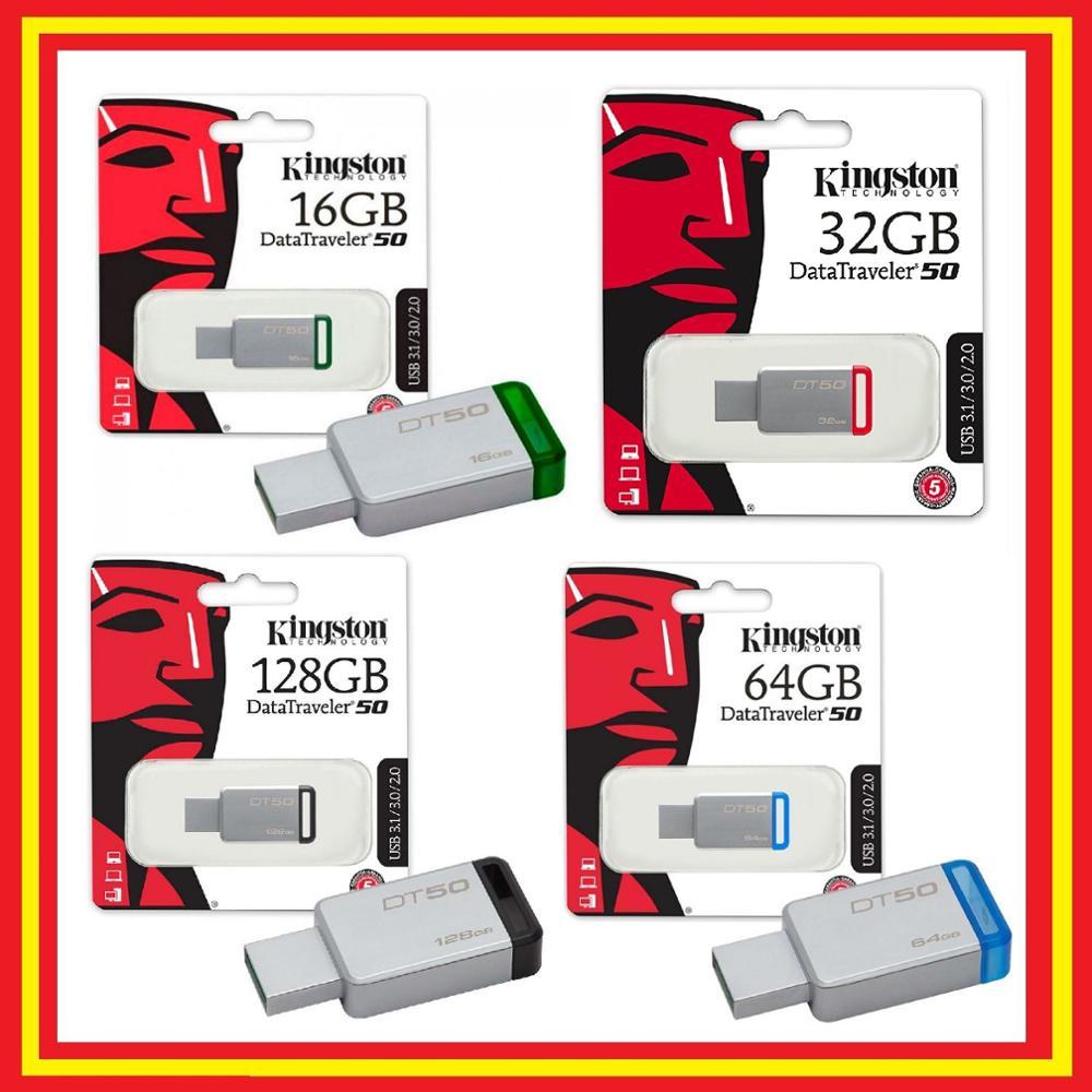 Pendrive Kingston DataTraveler DT50 USB 3.0 16GB 32GB 64GB 128GB - Original Memoria USB Flash Drive