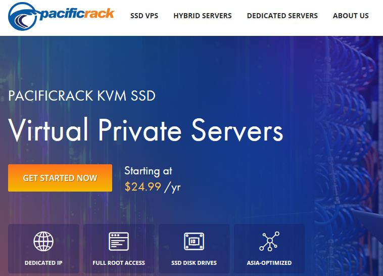 PacificRack美国便宜VPS服务器$7.99/年,KVM架构/1核768M内存/13G SSD硬盘/1T月流量-VPS SO