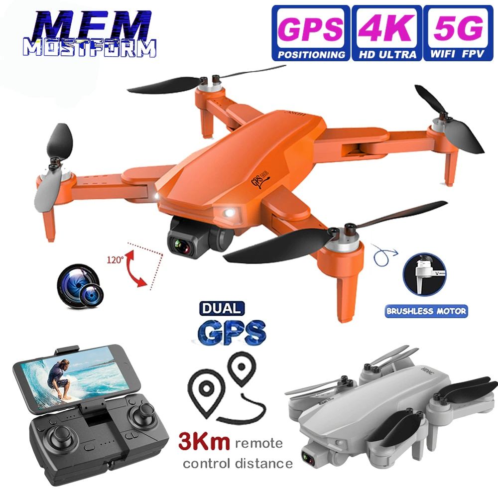 RC DRON S608pro GPS Drone 6K Dual Camera Professional 3km Long Distance Aerial Photography Brushless Foldable Quadcopter PK L900