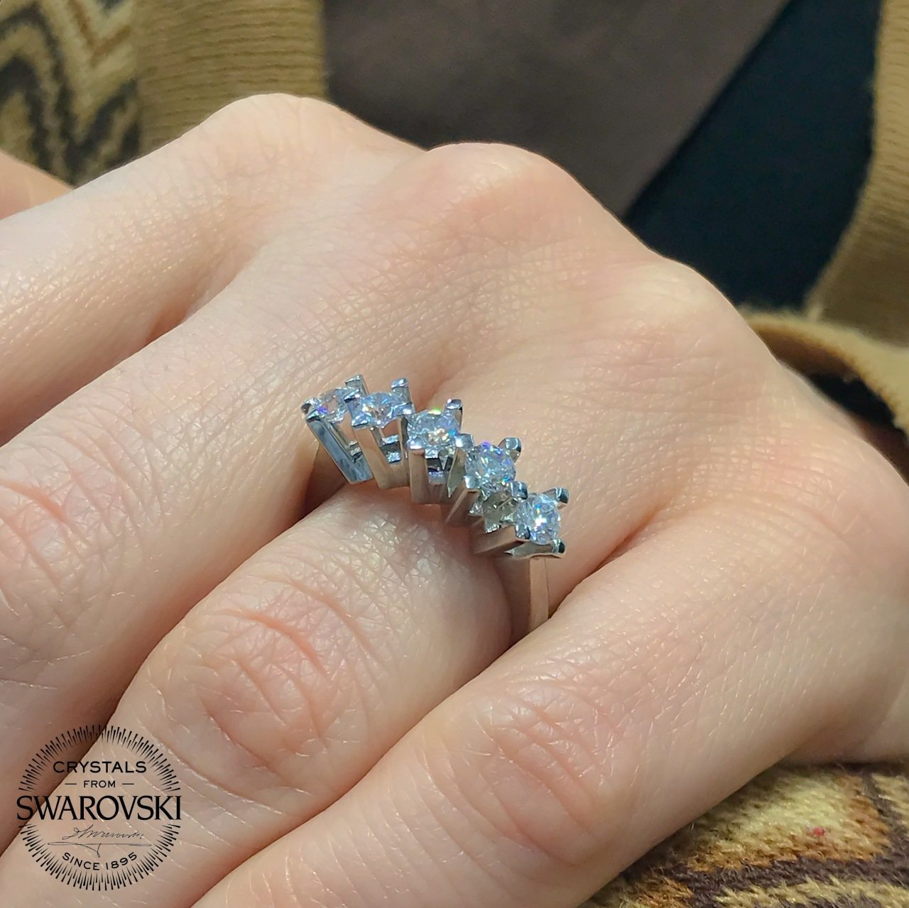 New Original Swarovski Dibs Princess Petals sterling Silver Ring