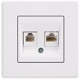 Pnpnelectríc-Gns Eqona مقبس هاتف ، بيانات ، أبيض ، رقمي ، RJ45 ، Cat6 ، Cat3