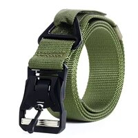 2021 military beltmagnetic button head military training nylon military tactical belt free shipping gift box packaging