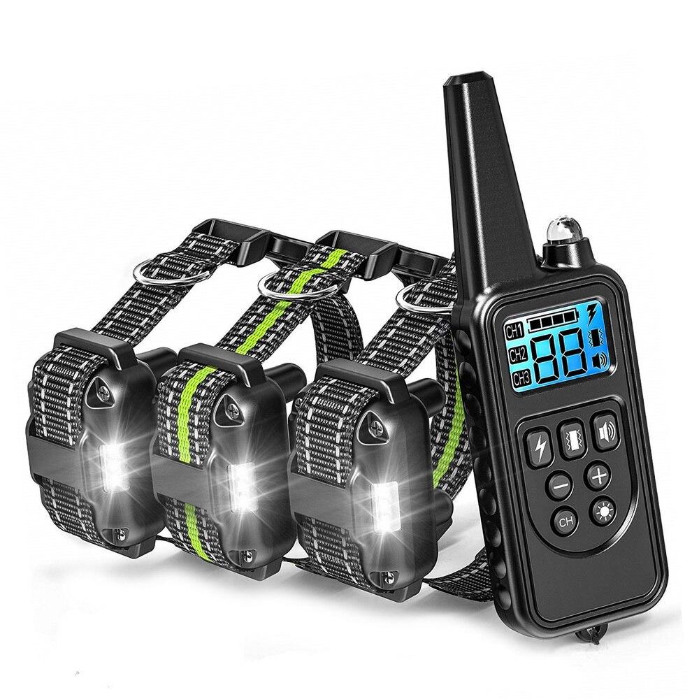 Colar de Choque Remoto Impermeável Elétrica Grande Treinamento Recarregável Novo 880v-3 100g2280 Cão