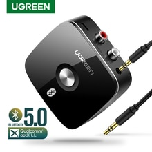 UGREEN Bluetooth RCA Receiver 5.0 aptX LL 3.5mm Jack Aux Wireless Adapter Music for TV Car RCA Bluet