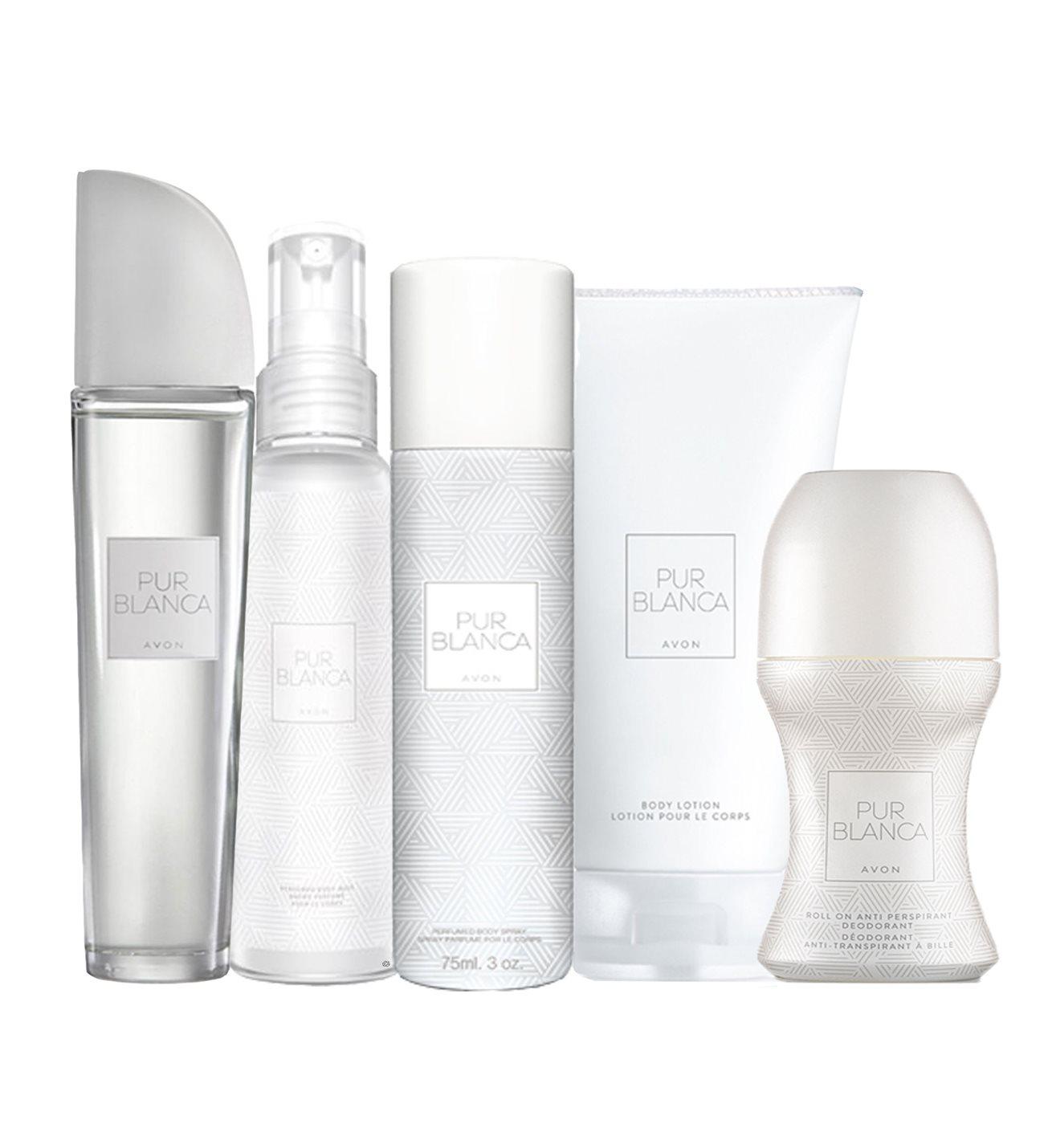 Pur Blanca 5-piece economic women's perfume set deodorant  lotion, spray, cream beautiful sexy pleasant lasting impressive