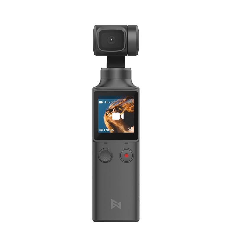 Em estoque fimi palm câmera 3-axis 4 k hd handheld cardan câmera estabilizador 128 ° grande angular inteligente faixa wi-fi embutido controle