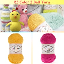Cotton Knitted Yarn 25 Color Options 165 Meters(50gr) hand Knitting-Alize Cotton Gold Hoby-Amigurumi