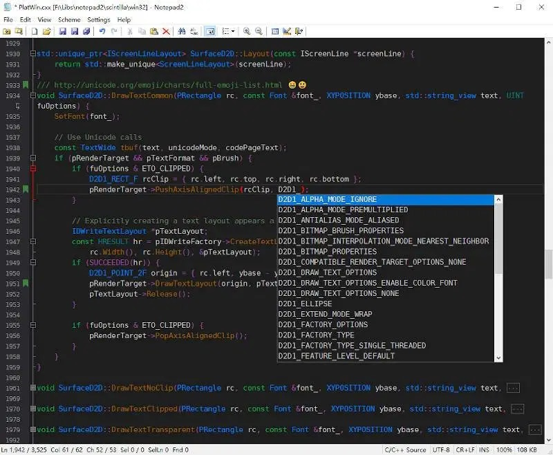 Notepad2 v4.21.03 R3546 超轻量的文本编辑器-小李子的blog