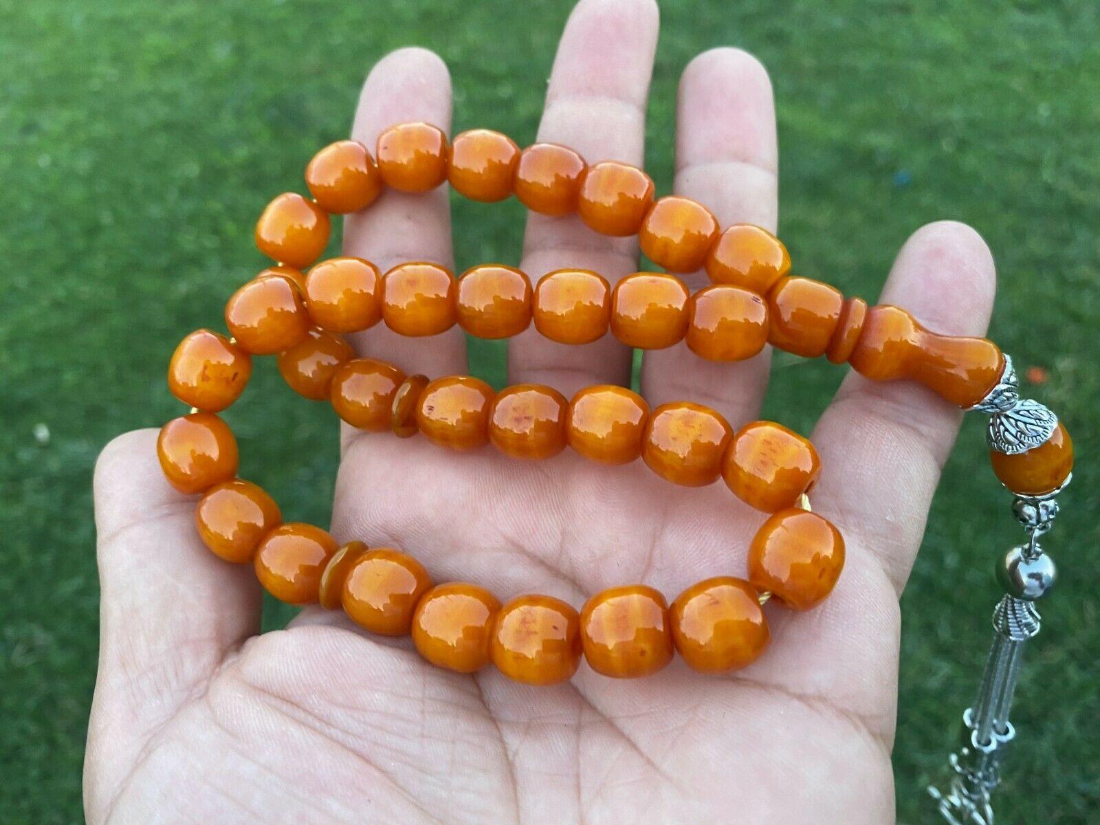 Ottoman Faturan German Amber Sandalous Misbaha Prayer Beads Islamic Gift Tasbih Tasbeeh Tasbeh Rosary Tasbih