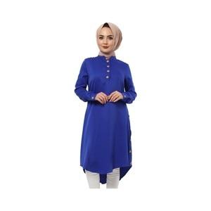 Hijab World Button Araboy Hijab Tunik TSD1044 Saks