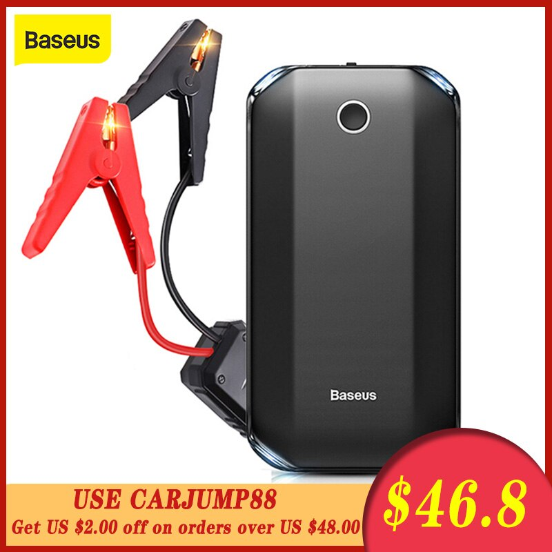 Baseus 8000A стартер пусковое устройство аккумулятор джамп    12 В внешний аккумулятор аварийный аккумулятор пусковое устройство авто пусковое устройство Портативный Автомобильный аварийный усилитель