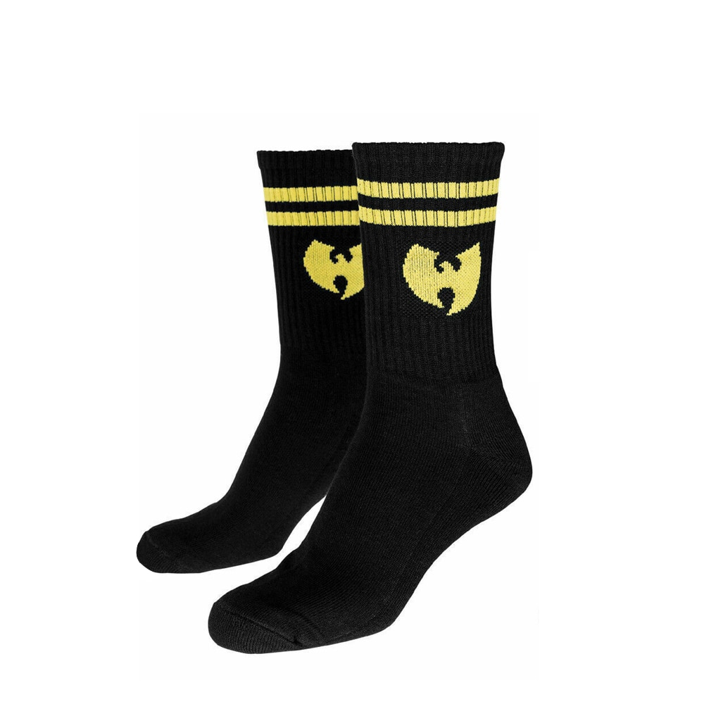 Wu Wear Socks, Wu Tang Clan Urban Streetwear Fashion Socks, Hip Hop, Men, black