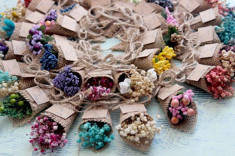 50 шт. Персонализированные Свадебные сувениры для гостей, цветочные сувениры с изображением 0, 50 шт. Персонализированные Свадебные сувениры ...