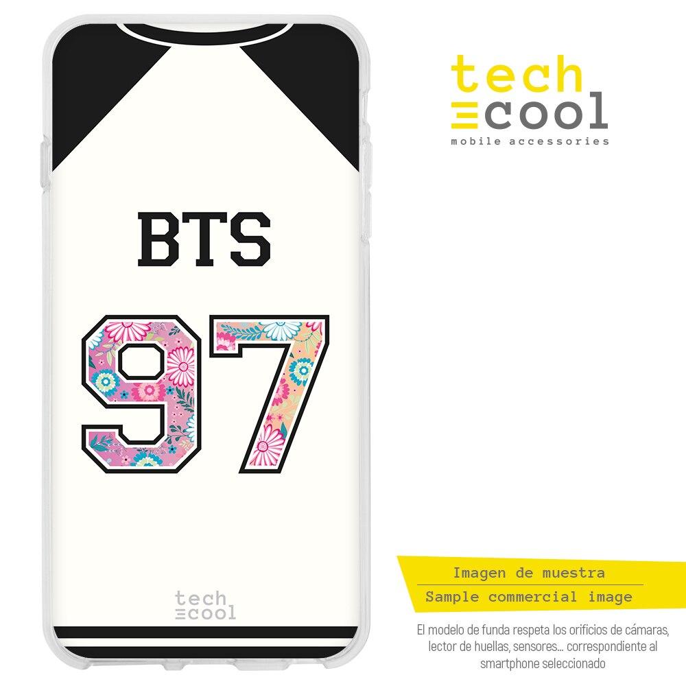 FunnyTech® Funda Silicona para LG Q7 l Camiseta Grupo Música BTS 97