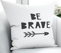 Else White Black Brave Arrow Scandinavian 3D Print Microfiber Throw Pillow Case Cushion Covers Square Hidden Zipper 45x45cm