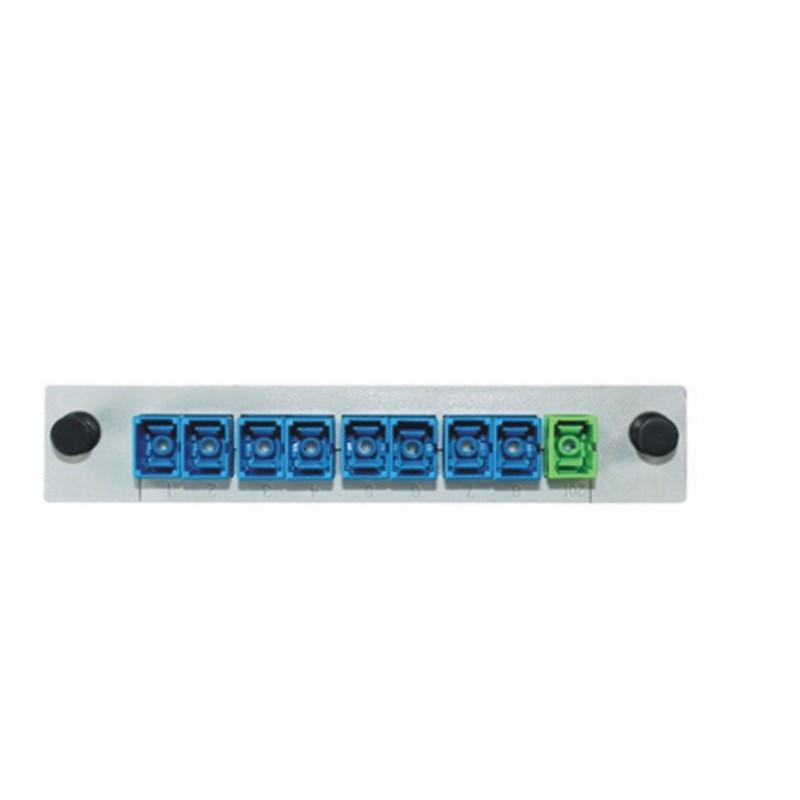 10 Uds divisor de fibra de guía-Sc tipo Apc FTTH con 1X8 1/16 SC/APC/UPC PLC Planar