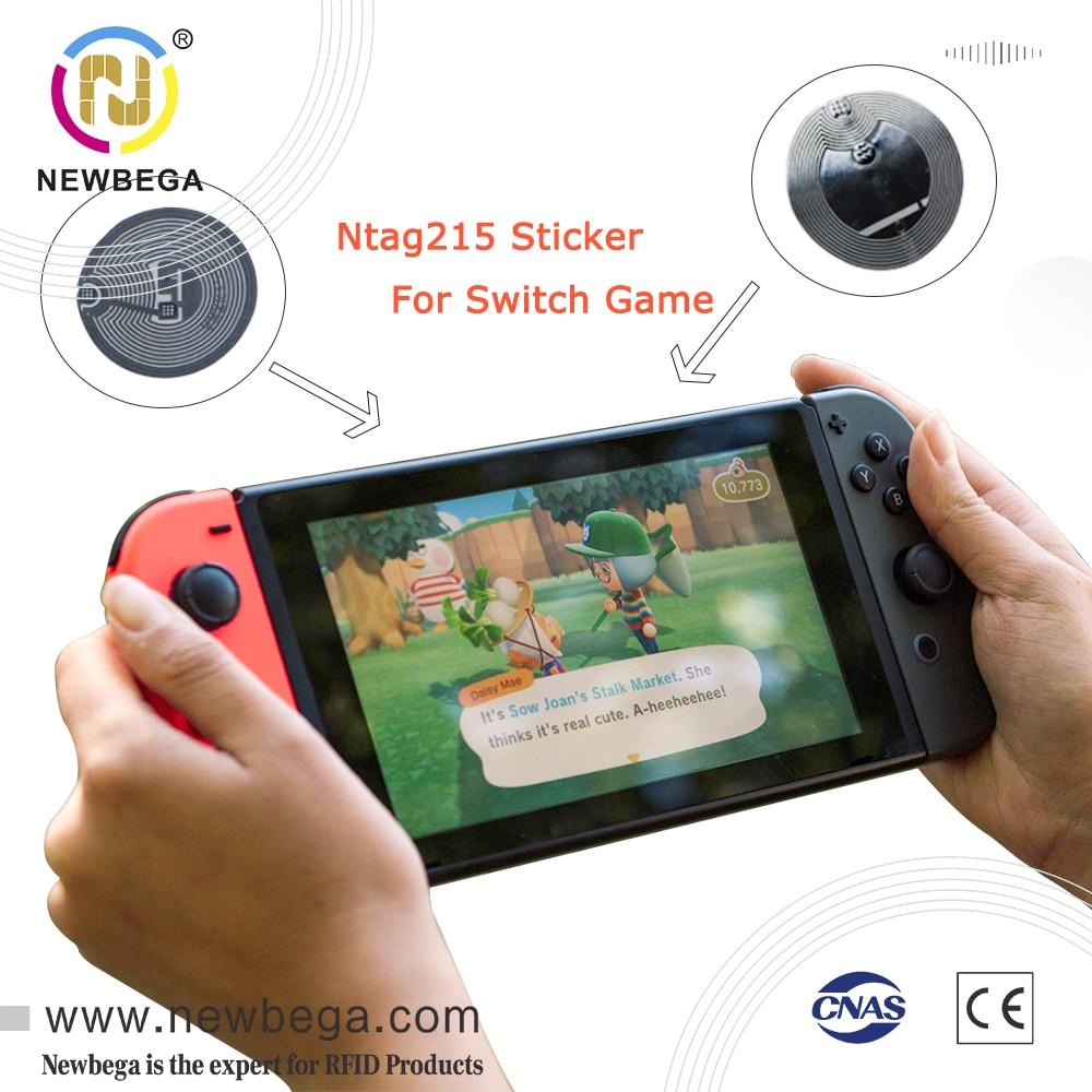 Ntag215-adesivo de biqueira nintendo switch lite, adesivo de biqueira nfc, 13.56mhz, super mario genshin