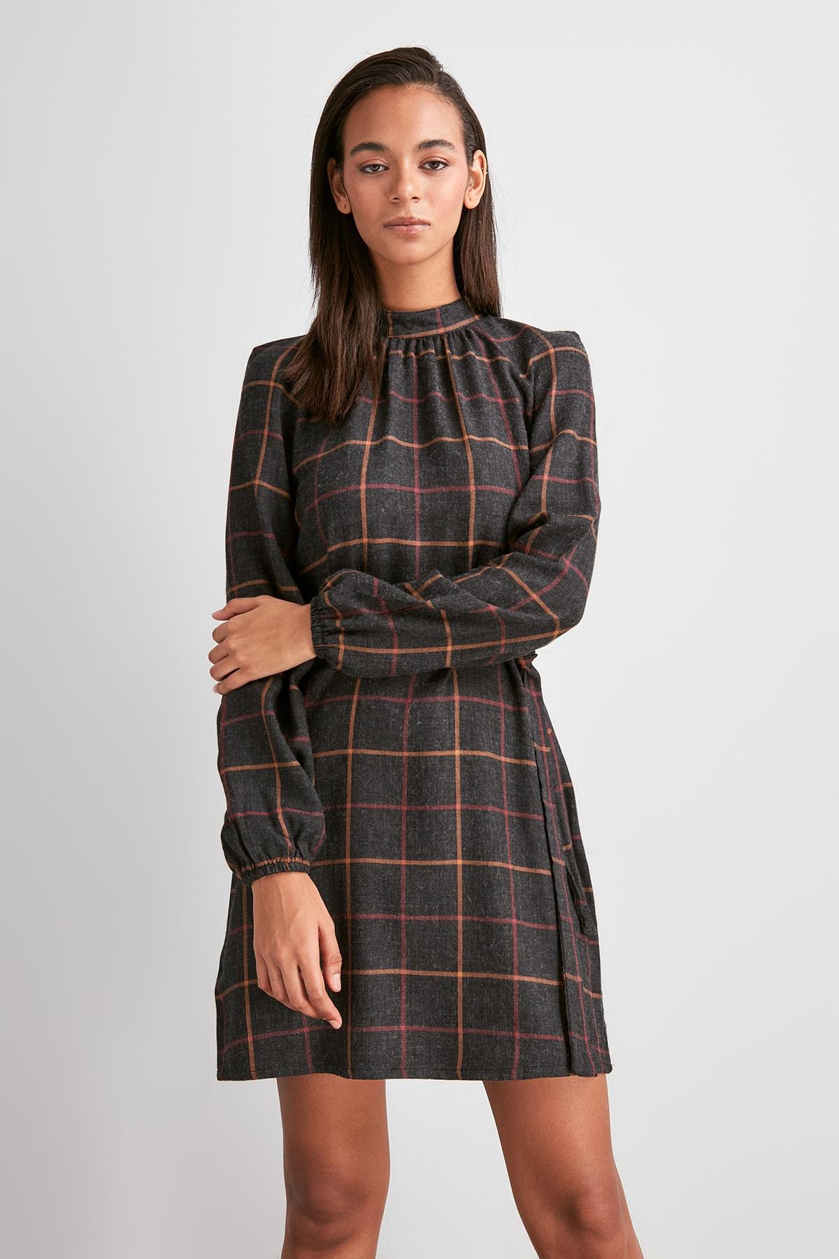 Trendyol ceinture robe à carreaux deuxaw20el1922