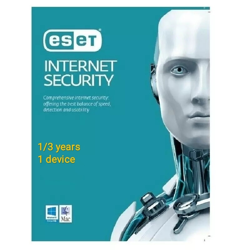 ESET NOD32 INTERNET SECURITY 2021 1 | 3 YEARS 1 DEVICE GLOBAL ACTIVATION KEY