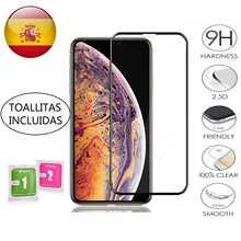Закаленное защитное стекло на весь экран для Apple Iphone X/ Xs max / 11/ Pro/Max, черное