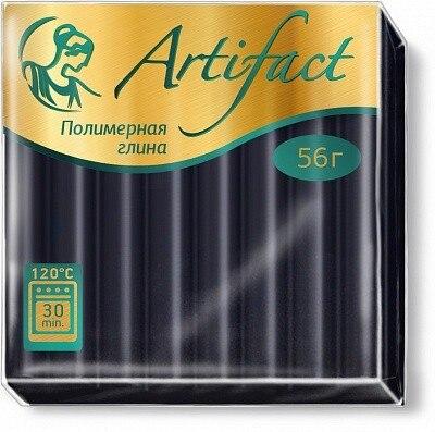 Argile polymère artefact (polymérisation de la pâte à modeler) bois 56 gr. Noir classique, 0009