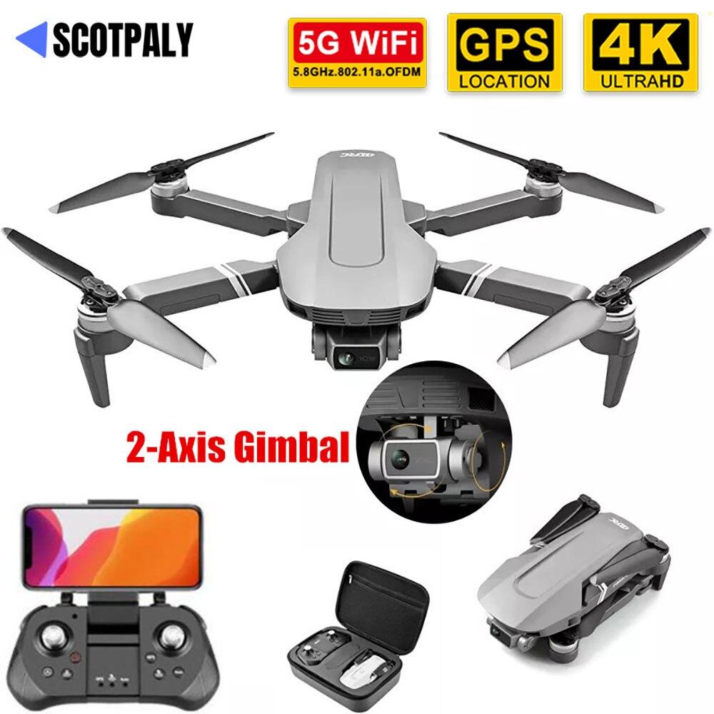 كاميرا ذكية F4 جي بي إس بدون طيار مع محورين جيمبال 5G واي فاي 4K احترافية بدون فرش طائرة رباعية RC 2 كجم رحلة 25 دقيقة درون VS SG906 Pro