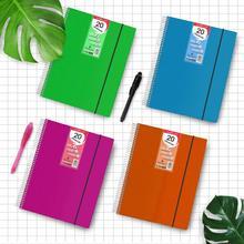 Starplast classeur fil hélice Flexible, organisateurs, avec 20 couvertures, Transparent lisse, dossier A4, tapas plastique