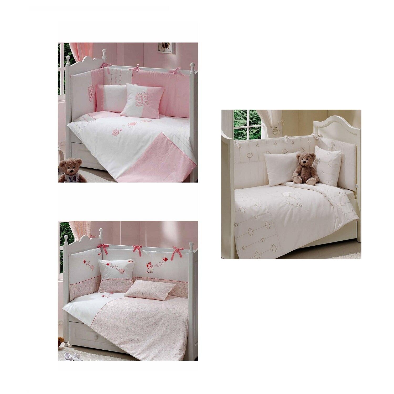 8 Pieces Baby Girl Sleeping Set 70X130 Cm Duvet Cover Mattress Newborn Cot Crib Bed Sheet Linen Quilt Made in Turkey