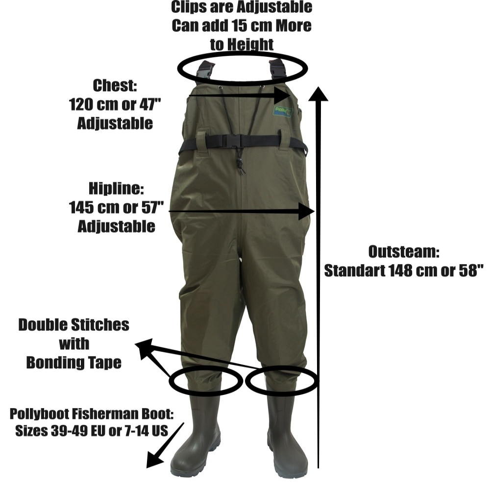 Fly Fishing Chest Waders Breathable Waterproof Included Fisherman Boot River Wader Pants for Men and Women enlarge
