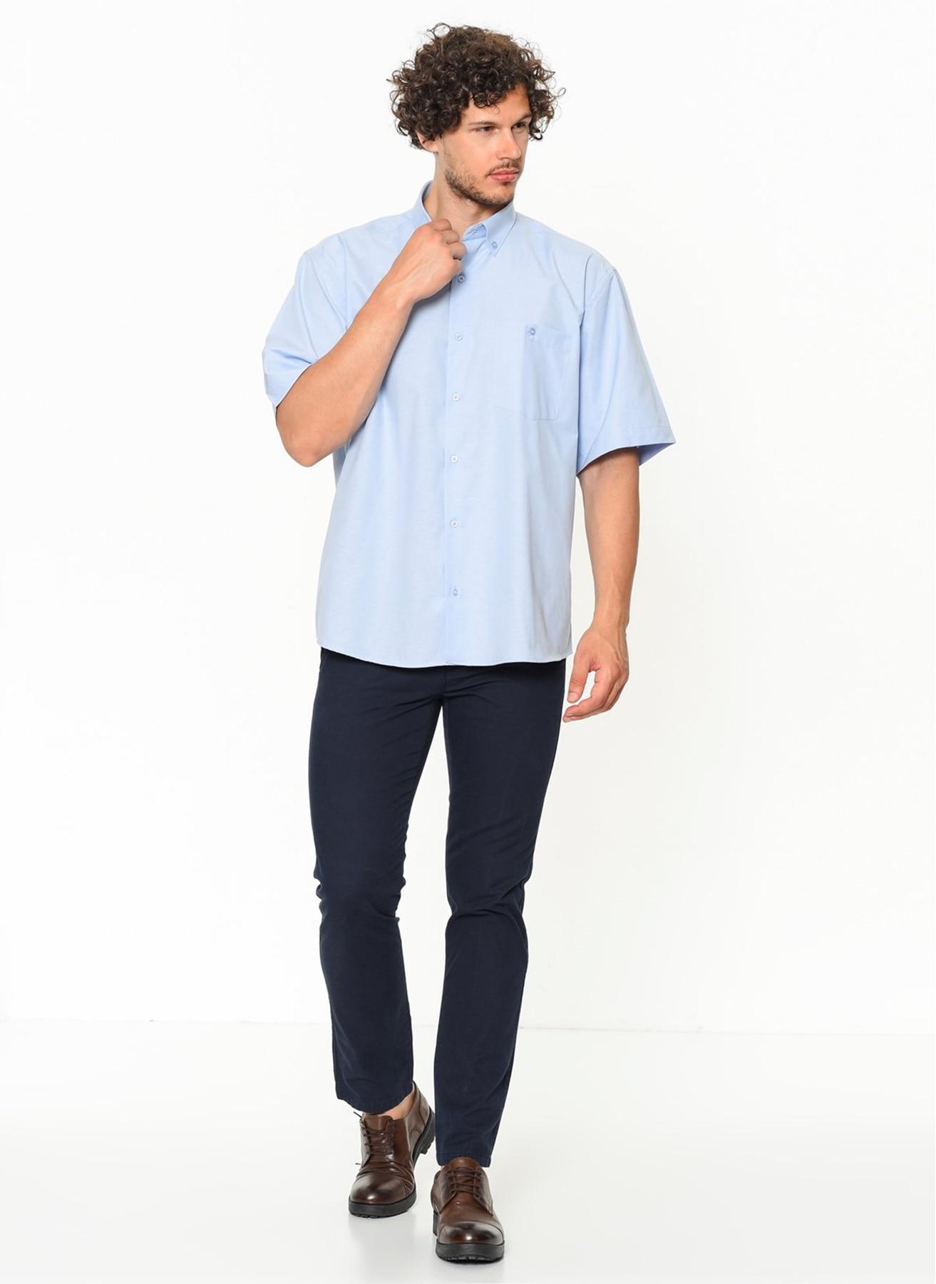 Varetta Plus Size Blue 8XL 3XL Formal Dresses Big Size Men Oxford Business Casual Short Sleeve Classic Solid Male Social Dress Brand Shirts New Fashion Elegant Large Size Plaid Brand Clothing Camisa Masculina For Men