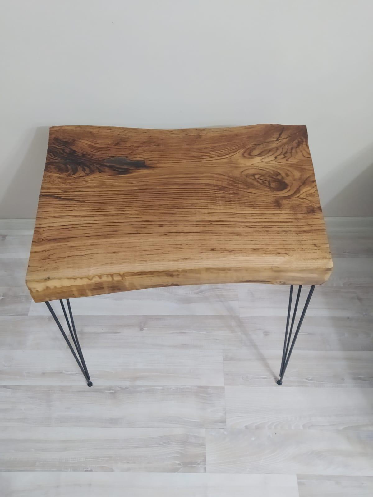 Прямоугольный кофейный столик из эпоксидной смолы Каштанового Дерева