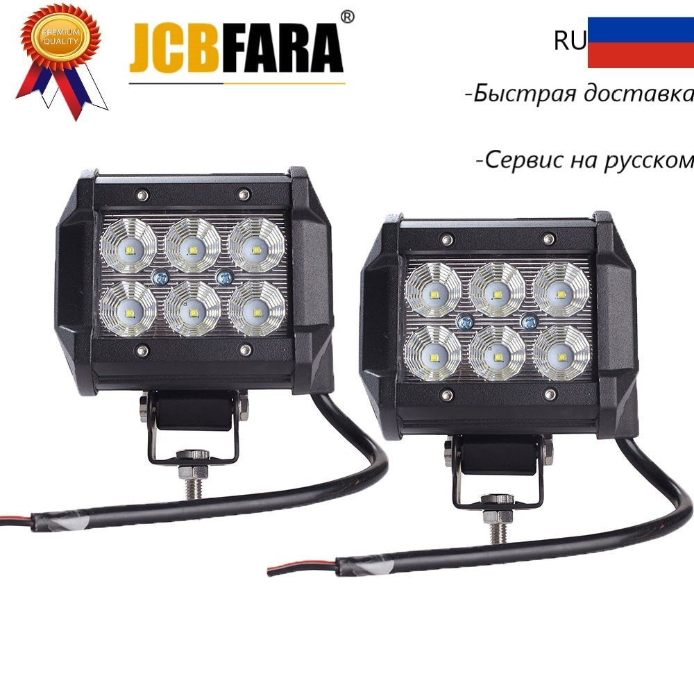 4inch 18W LED Work Light 12v 24v Spot Flood Led Work Lamp Driving Lights Offroad 4x4 Truck Boat 4WD ATV SUV