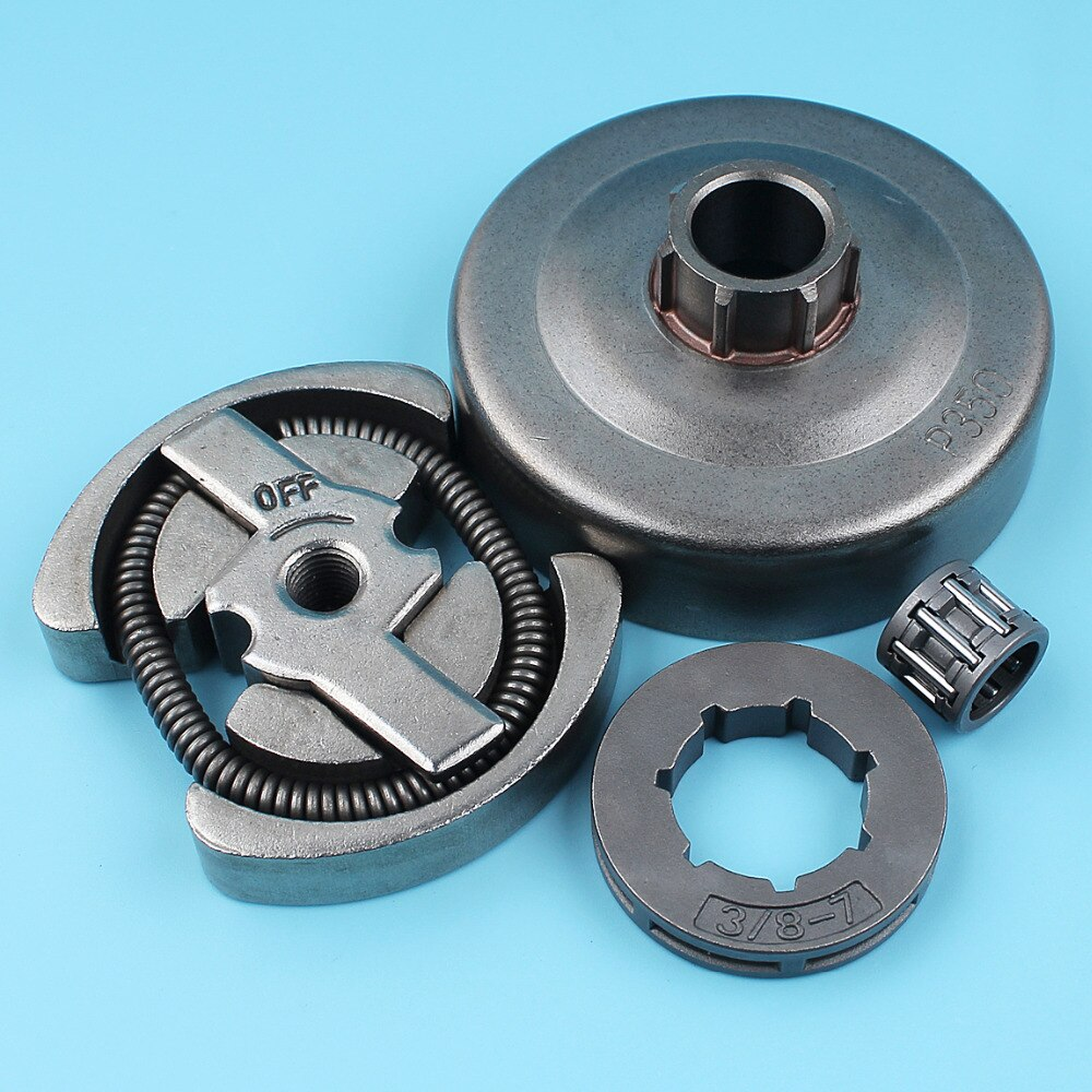 3 8 clutch drum Clutch (3/8-7T) Sprocket Rim Drum Kit For Partner 350 351 Chainsaw Needle Bearing Cage Replacement Parts бензопила