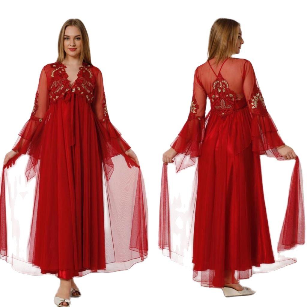 المرأة الحرير الدانتيل طويلة 2 قطعة المنزل مريحة ليلة لبس بارد ودافئة ثوب النوم مبذل دعوى أحجام M L XL