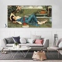 Holover toile peinture a lhuile esthetique decoration de la maison William Waterhouse  doux ete  romantisme mythologie Art mural