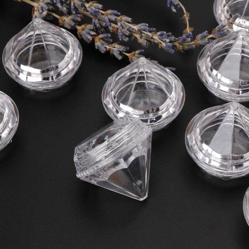 10 Uds Mini botellas vacías de diamantes transparentes para cosméticos tarro caja de crema portátil sombra de ojos envase para crema facial maquillaje rellenable botellas