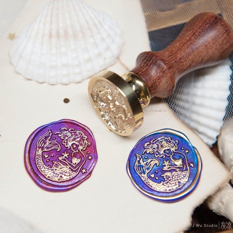 La sirena original vintage sello de cera