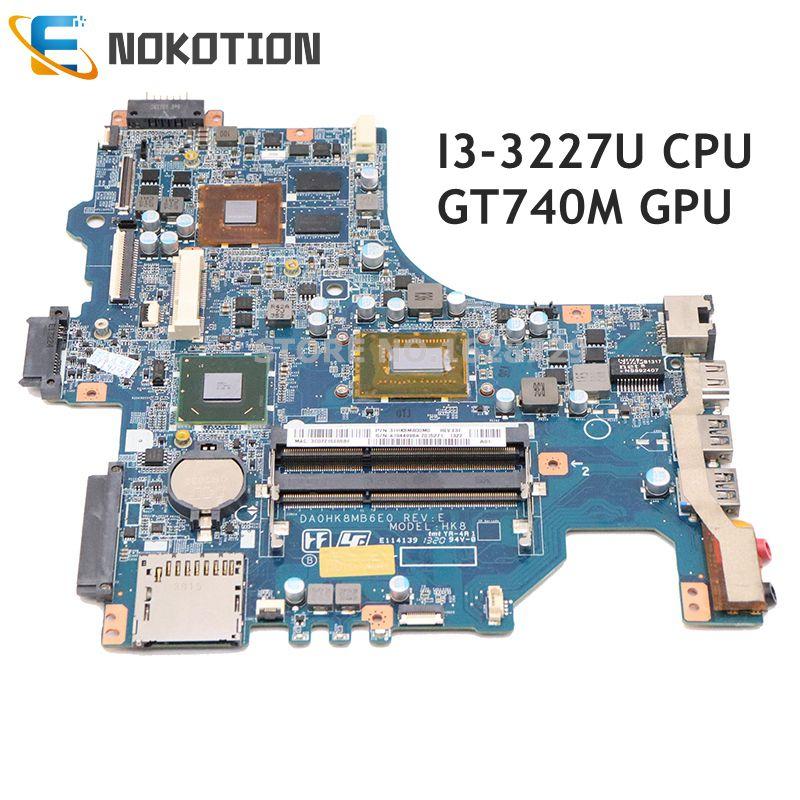 NOKOTION لسوني Vaio SVF14 SVF142 SVF142C29M اللوحة المحمول GT740M GPU SR0XF I3-3227U CPU DDR3 DA0HK8MB6E0 A1944998A