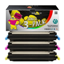 3 pièces Compatible Q6470A Q6471A Q6472A Q6473A 717 Cartouche de Toner pour HP Color LaserJet CP3505 3800 3800n 3600 3600dn Imprimante
