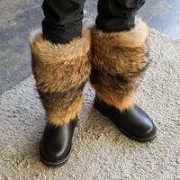Унты мужские высокие натуральный волк, войлочно-резиновая подошва #2