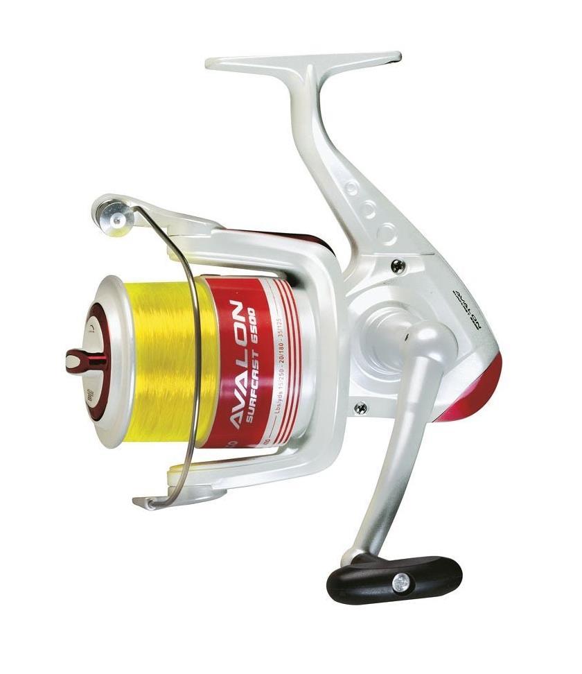Máquina de caña de pescar roja Trabucco Avalon Surfcast 6500