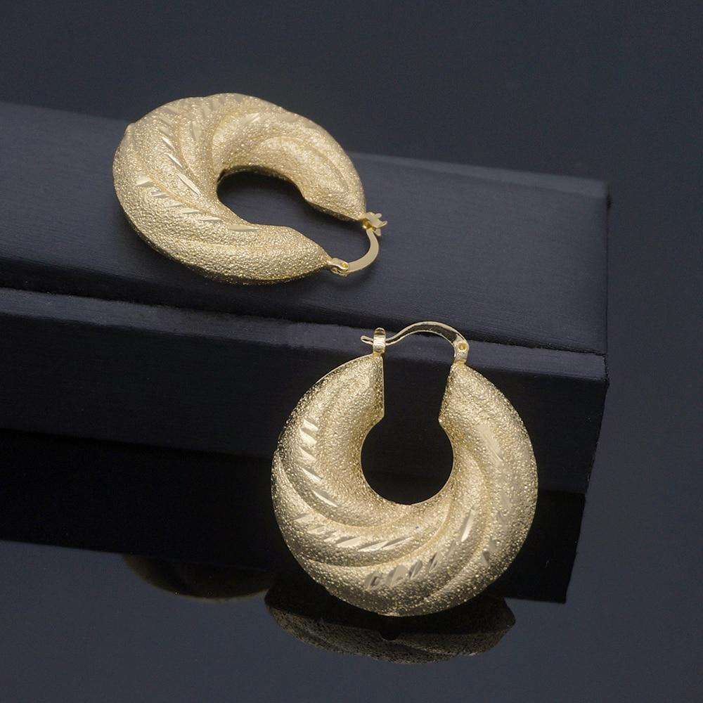 2020 new copper Drop Earrings for Women Geometric Simple Dangle Fashion Glossy Plated Long Earrings Jewelry Accessories