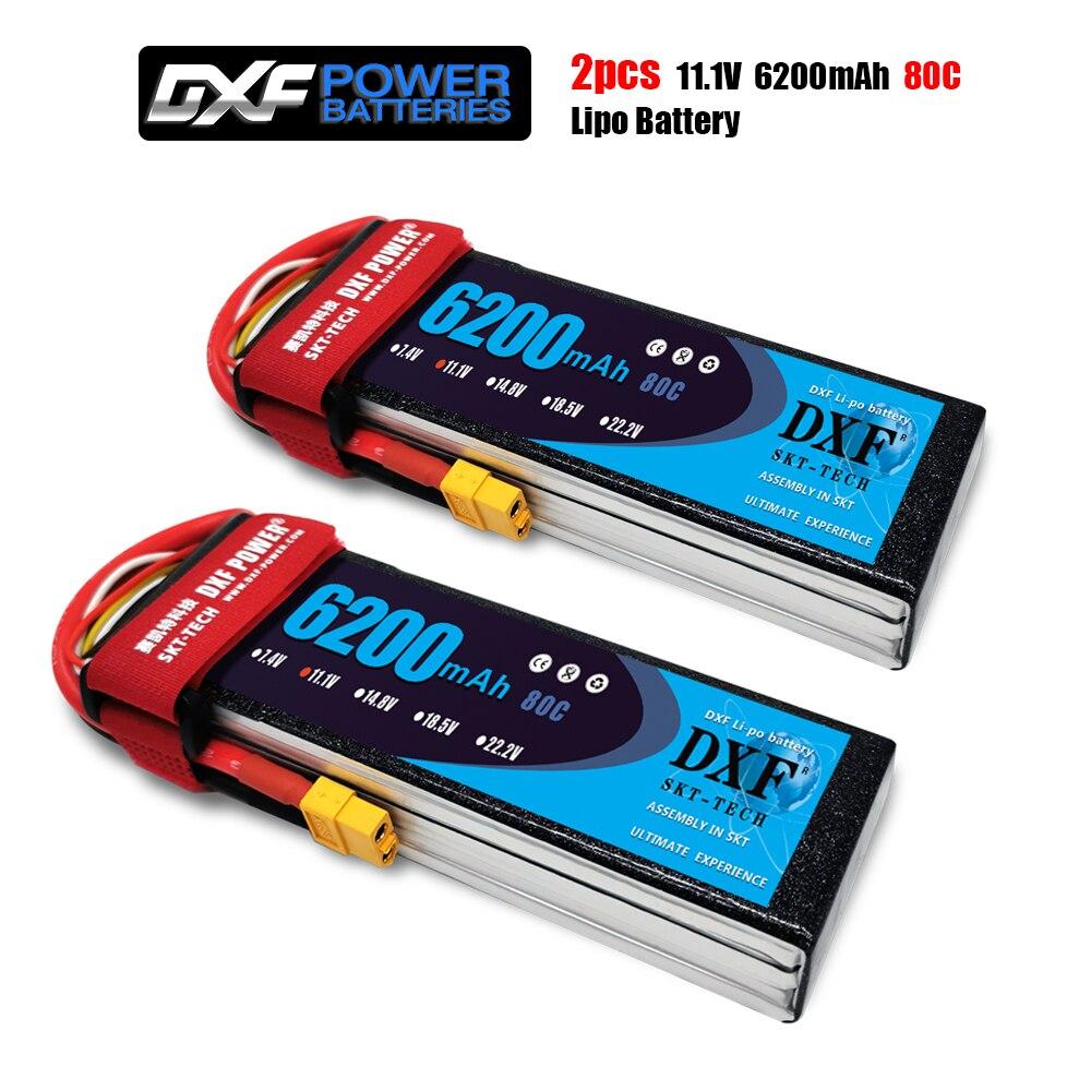 2PCS DXF Lipo Battery 2S 3S 7.4V 11.1V 10000mAh 8400mAh 7000mAh 6200mAh 6500mAh 100C 200C 60C 120C 240C 80C 160C for Car Drone enlarge