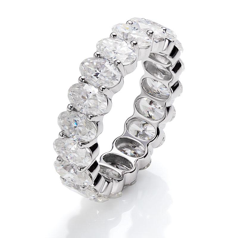 3x5 مللي متر D VVS1 مجوهرات مخصصة مويسانيت الماس الخلود الفرقة حلقة EX البيضاوي قطع المهنية مويسانيت مصنع المورد