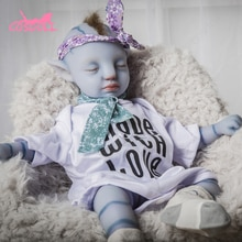 Newest 46CM 100% Full silicone Reborn Baby Dolls for Children Toys Realistic Blue Baby Toys for Chil