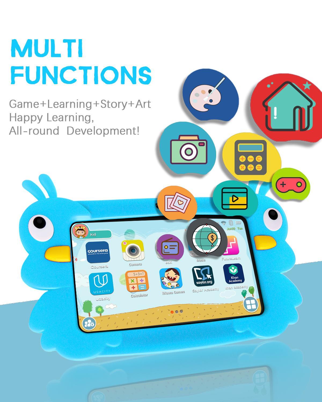 Tableta infantil de 7 pulgadas, tableta educativa de aprendizaje para niños, el mejor regalo para niños, tableta Android 8,1 Quad Core 1