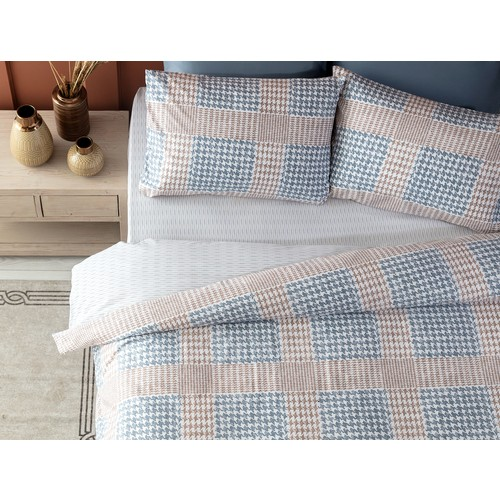 Madame Coco Chevre Ranforce Double Personality Double-Sided Duvet cover set-Blue/Earth Bed Covers Home Textile Luxury Bedspreads