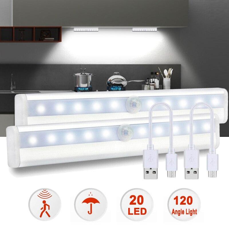 Portable Little Light Wireless LED Under Cabinet Lights LED Motion Sensor Night Light for Closet Cabinet Wardrobe